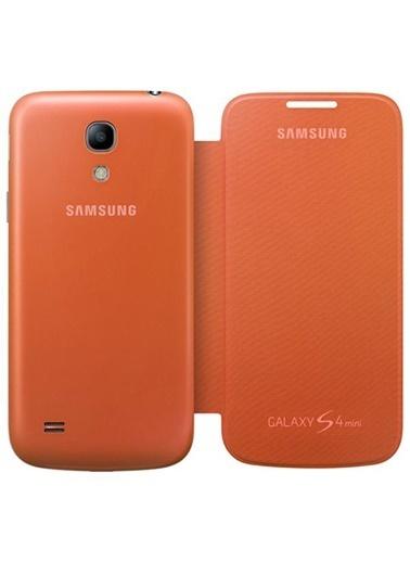 Samsung Samsung I9190 Galaxy S4 Mini Orjinal Flip Cover Kılıf Yeşil -Turuncu (Outlet) Renkli